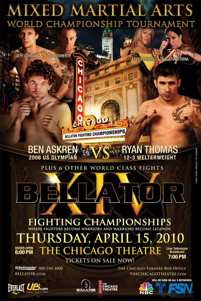 Bellator XIV - Chicago Theatre Poster
