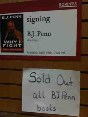 BJ Penn Book Signing in Torrance, CA